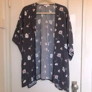 American Eagle Don't Ask Why Floral Kimono Wrap